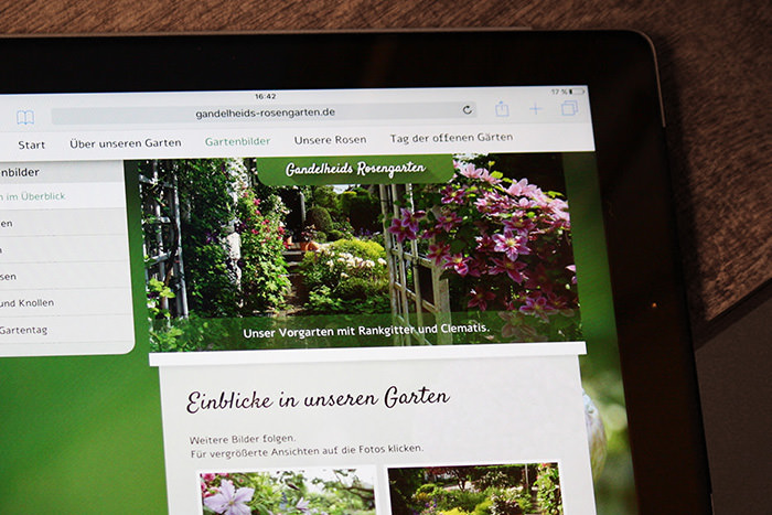 Individuelles Webdesign für private Garten-Website