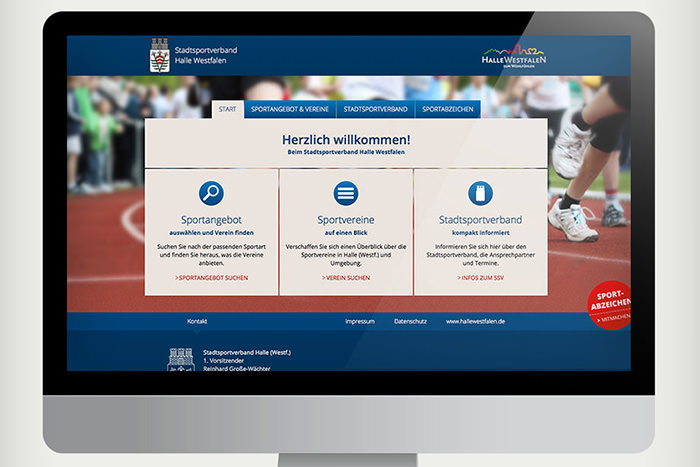 Webdesign für Stadtsportverband in Halle Westfalen